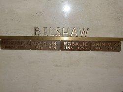 Gwin M Belshaw, Sr