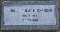 Mary Louise <i>Rowley</i> Alexander