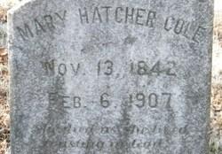 Mary <i>Hatcher</i> Cole