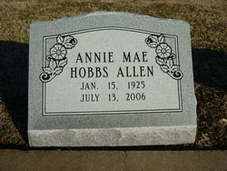 Annie Mae <i>Hobbs</i> Allen