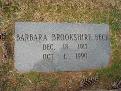 Barbara Eleanor <i>Brookshire</i> Beck