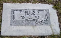 Esther <i>Snell</i> Brown