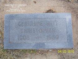 Gertrude <i>Witt</i> Christopher
