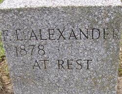 Frances Elizabeth <i>Sanders</i> Alexander
