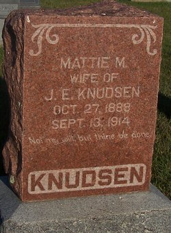 Mattie M <i>Petersen</i> Knudsen