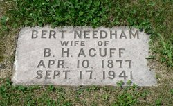 Bert <i>Needham</i> Acuff