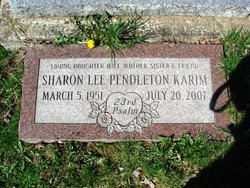 Sharon Lee <i>Pendleton</i> Karim