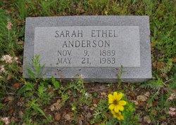 Sarah Ethel <i>Andrews</i> Anderson
