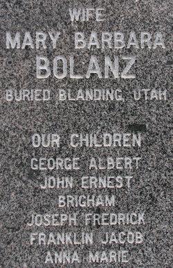 Mary Barbara <i>Bolanz</i> Adams