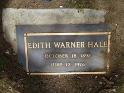 Edith <i>Warner</i> Hale