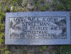 Mary Margaret Elizabeth <i>Cook</i> Streetman