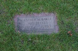 Esther Mae <i>Reeves</i> Baker
