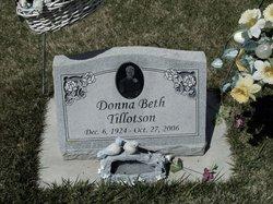 Donna Beth <i>Jones</i> Tillotson