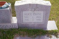 Alice <i>Payne</i> McDonald