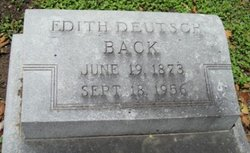 Edith <i>Deutsch</i> Back
