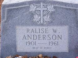 Ralise <i>W.</i> Anderson