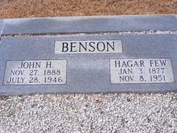 Hagar <i>Few</i> Benson
