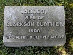 Agnes <i>Evans</i> Clothier