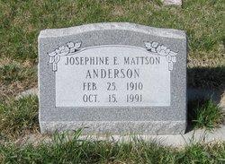 Josephine E <i>Mattson</i> Anderson