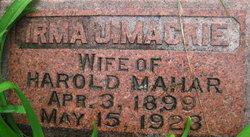 Irma J. <i>Mackie</i> Mahar