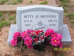 Betty Jo <i>Snyder</i> Brothers