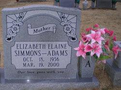Elizabeth Elaine <i>Simmons</i> Adams