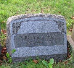 Virginia F Ahrin