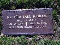 Maj Mathew Earl Schrambo Schram