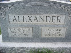 Esta Mae <i>McClain</i> Alexander