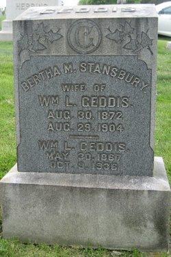 Bertha M <i>Stansbury</i> Geddis