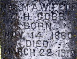 Margaret Alabama Allie <i>Scruggs</i> Cobb