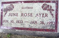June Rose <i>Clark</i> Ayer