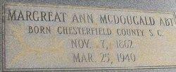 Margreat Ann <i>McDougald</i> Abt