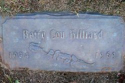Betty Lou Hilliard