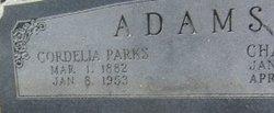 Cordelia <i>Parks</i> Adams