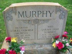 Sarah Jane <i>Summey</i> Murphy