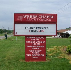 Webbs Chapel Baptist Church Cemetery