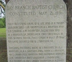 Bay Branch Baptist Church Cemetery