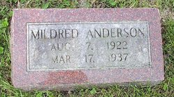 Mildred J Anderson