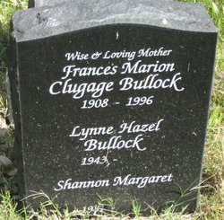 Frances Marion <i>Clugage</i> Bullock