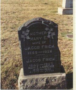 Mary E. <i>Booher</i> Frick