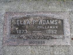Ella P. <i>Shumate</i> Adams