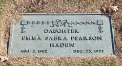 Emma Sabra <i>Pearson</i> Haden