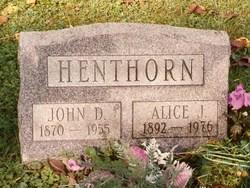 Alice Jane <i>Boughner</i> Henthorn