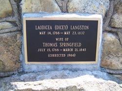 Laodicea Dicey <i>Langston</i> Springfield