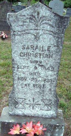 Sarah Elizabeth <i>Squires</i> Christian