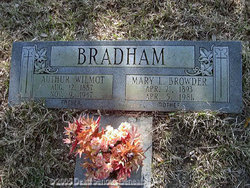 Mary L. <i>Browder</i> Bradham