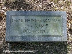 Fannie <i>Browder</i> Bradham