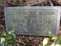 Elizabeth Gertrude <i>Bradshaw</i> Browder