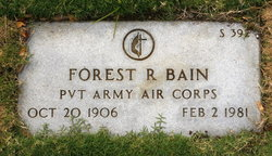Pvt Forest R. Bain